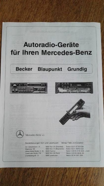 Mercedes Coupe Radio
