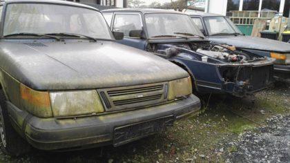Friedhof der Saabs mit Saab Getriebe